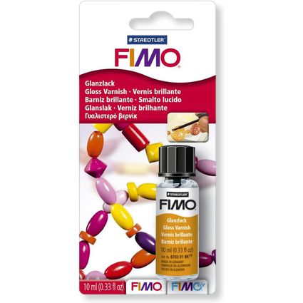 FIMO Glanzlack, 10 ml im Gläschen, Pinsel im Deckel