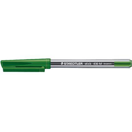 STAEDTLER Kugelschreiber stick 430, Strichfarbe: grün