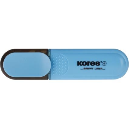 "Kores Textmarker ""BRIGHT LINER"", Farbe: blau"