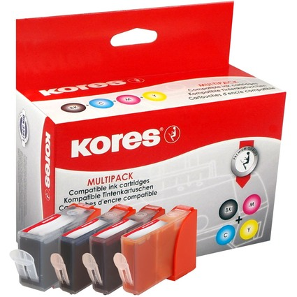 Kores Multi-Pack Tinte G957KIT ersetzt Canon BCI-3eBK/