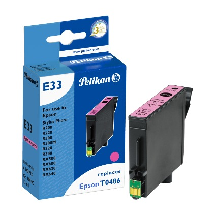 Pelikan Tinte 343932 ersetzt EPSON T0486, light magenta