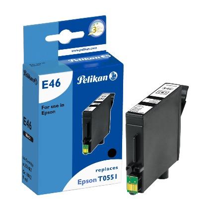 Pelikan Tinte 351487 ersetzt EPSON T0551, schwarz