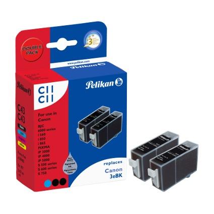 Pelikan Multi-Pack Tinte 359483 ersetzt Canon BCI-3eBK