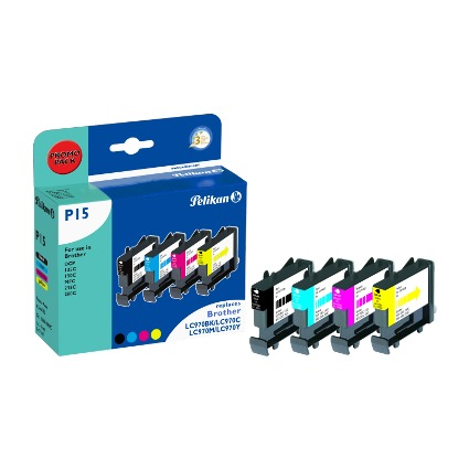 Pelikan Multi-Pack Tinte 360670 ersetzt brother LC-970BK/