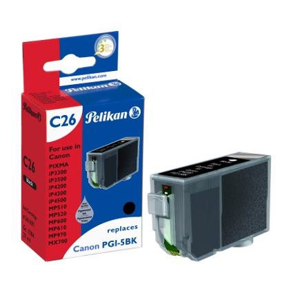 Pelikan Tinte 361691 ersetzt Canon PGI-5BK, schwarz