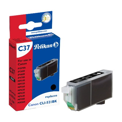 Pelikan Tinte 4103246 ersetzt Canon CLI-521BK, schwarz