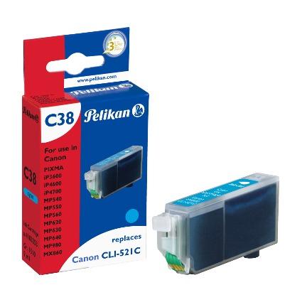 Pelikan Tinte 4103253 ersetzt Canon CLI-521C, cyan