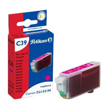 Pelikan Tinte 4103206 ersetzt Canon CLI-521M, magenta