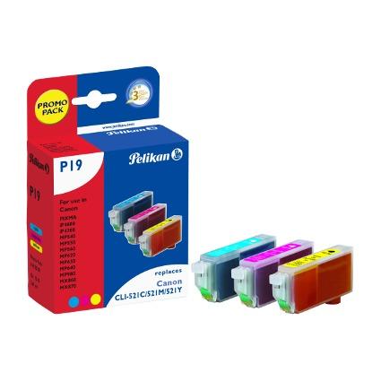 Pelikan Multi-Pack Tinte 4103291 ersetzt Canon CLI-521C/
