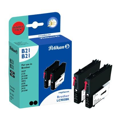 Pelikan Multi-Pack Tinte 4106384 ersetzt brother LC-985BK