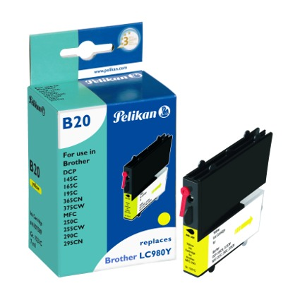 Pelikan Tinte 4107589 ersetzt brother LC-980Y, gelb