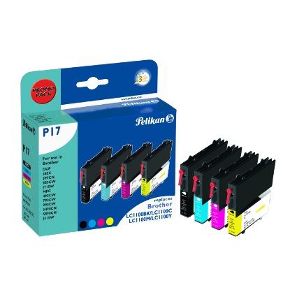 Pelikan Multi-Pack Tinte 4107862 ersetzt brother LC-1100BK/