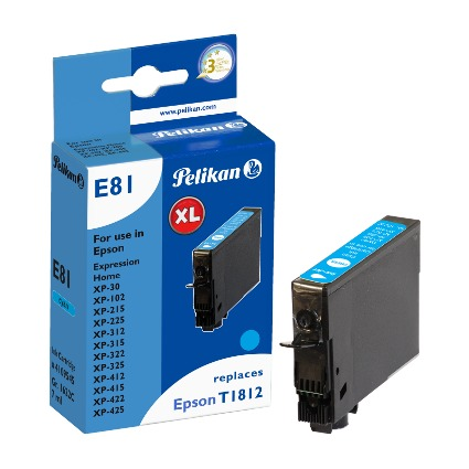 Pelikan Tinte 4109545 ersetzt EPSON T1812, cyan