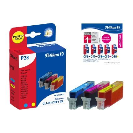 Pelikan Multi-Pack Tinte 4110046 ersetzt Canon CLI-551C XL/