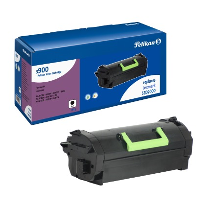 Pelikan Toner 3904 ersetzt LEXMARK 52D2000, schwarz