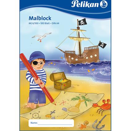 Pelikan Malblock MC 4/100, DIN A4, 70 g/qm, 100 Blatt