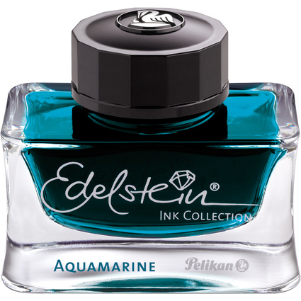 "Pelikan Tinte ""Edelstein Ink Aquamarine"", im Glas"