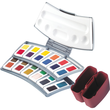 Pelikan Studien Aquarell-Malkasten 725 D/24, 24 Farben