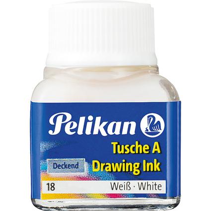 Pelikan Tusche A, Inhalt: 10 ml im Glas, Weiß (18)