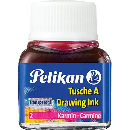 Pelikan Tusche A, Inhalt: 10 ml im Glas, karminrot (2)
