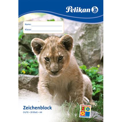Pelikan Zeichenblock C 4/20, DIN A4, 100 g/qm, 20 Blatt