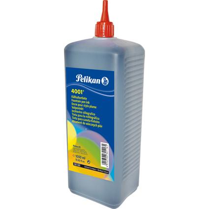 Pelikan Tinte 4001 in Kunststoff-Flasche, brillant-schwarz