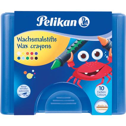 Pelikan Wachsmaler 655/10, mit Schiebehülse, rund