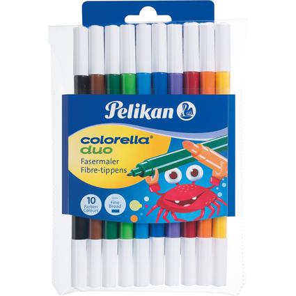 Pelikan Fasermaler Colorella Duo, rund, 10er Etui