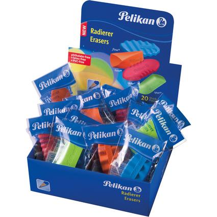 Pelikan Design-Radierer DR 20, farbig sortiert, im Display