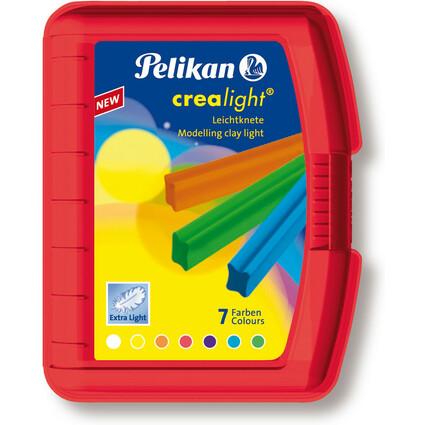 Pelikan Kinderknete Crealight 227/7, Box transparent-rot