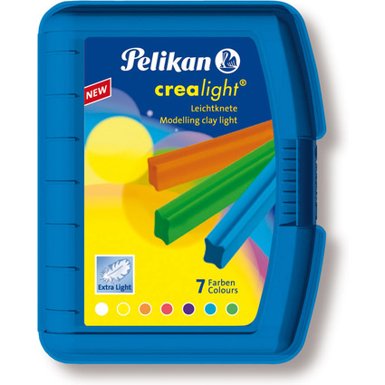 Pelikan Kinderknete Crealight 227/7, Box transparent-blau