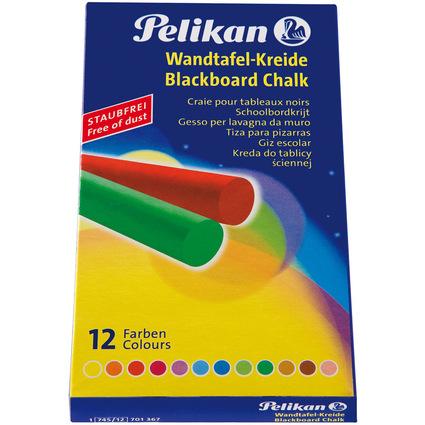 Pelikan Wandtafelkreide 745/12, farbig, Kartonetui