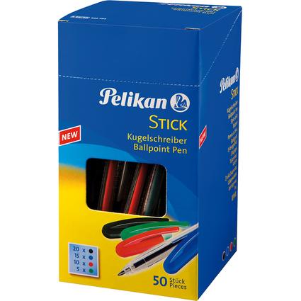 Pelikan Kugelschreiber STICK, sortiert, Karton-Display
