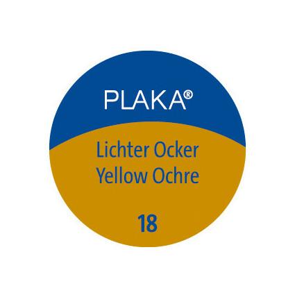 Pelikan Plaka, lichter ocker (Nr. 18), Inhalt: 50 ml im Glas