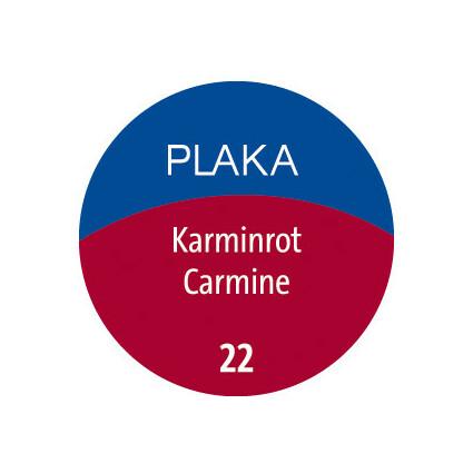 Pelikan Plaka, karminrot (Nr. 22), Inhalt: 50 ml im Glas