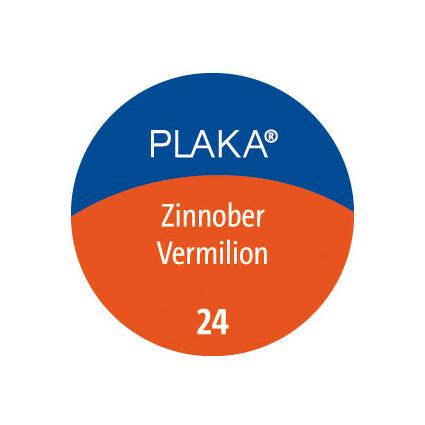 Pelikan Plaka, zinnoberrot (Nr. 24), Inhalt: 50 ml im Glas