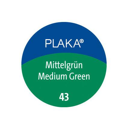 Pelikan Plaka, mittelgrün (Nr. 43), Inhalt: 50 ml im Glas