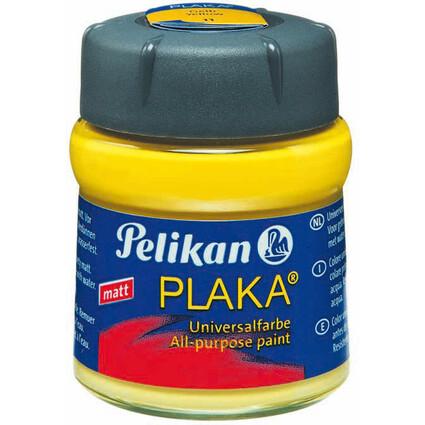 Pelikan Plaka, gelb (Nr. 11), Inhalt: 50 ml im Glas