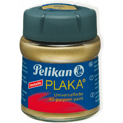 Pelikan Plaka, gelbgold (Nr. 61), Inhalt: 50 ml im Glas