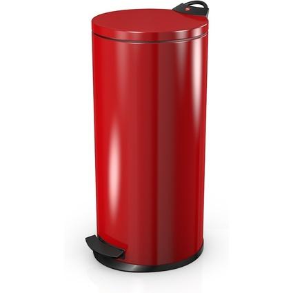 Hailo Tret-Abfalleimer T2 L, rund, 19 Liter, rot