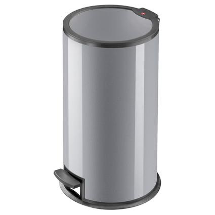Hailo Tret-Abfalleimer T3.16, rund, 16 Liter, silber