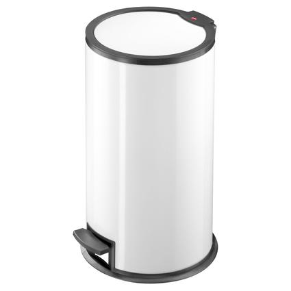 Hailo Tret-Abfalleimer T3.16, rund, 16 Liter, weiß