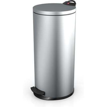 Hailo Tret-Abfalleimer T2 L, rund, 19 Liter, silber