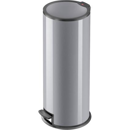 Hailo Tret-Abfalleimer T3.24, rund, 24 Liter, silber