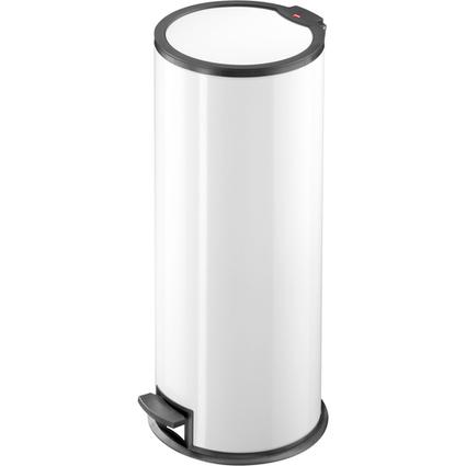 Hailo Tret-Abfalleimer T3.24, rund, 24 Liter, weiß