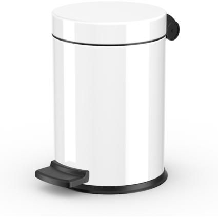 Hailo Tret-Kosmetikeimer ProfiLine Solid S, 4 Liter, weiß