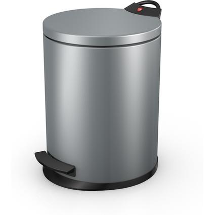 Hailo Tret-Abfalleimer T2.13, rund, 13 Liter, silber