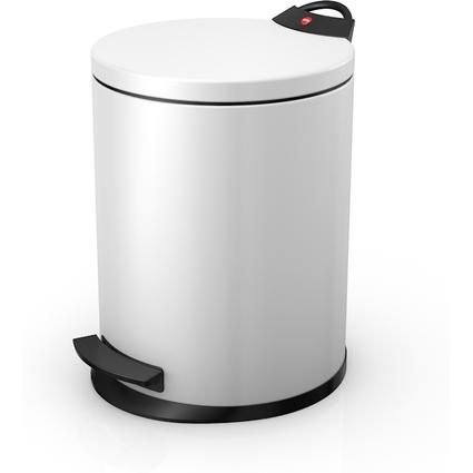 Hailo Tret-Abfalleimer T2.13, rund, 13 Liter, weiß