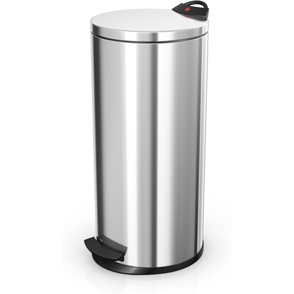 Hailo Tret-Abfalleimer T2.20, rund, 20 Liter, silber