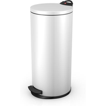 Hailo Tret-Abfalleimer T2 L, rund, 19 Liter, weiß